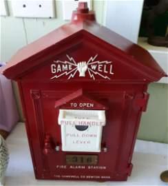 antique gamewell fire alarm box Restored!