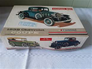 HUBLEY 1932 CHEVROLET coupe kit car metal in box!