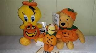 the disney store Plush toys tweety, tigger,pooh w/orig