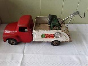 Buddy L 1940's pressed steel wrecker tow truck toy
