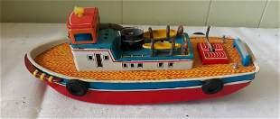 vintage tin litho windup tug boat nice 50's?