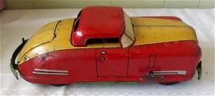 wyandotte Marx tin litho wind up convertible car works!