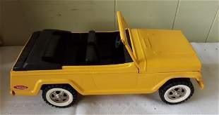 vintage tin Tonka yellow jeep toy Minty! jeepster