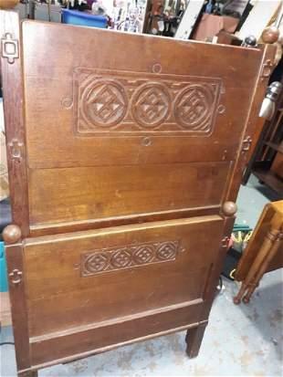Celtic Oak Childs Bed 1800's? RARE!