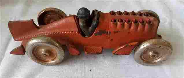 Hubley orig/replica? 1935 golden arrow race car Cast Ir