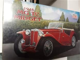 vintage minicraft model 1948 MG TC Midget new in box