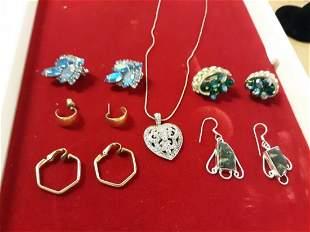 Vintage jewelry Lot earrings,necklace