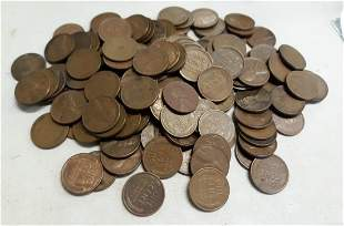 estate lot of 120 appx wheat pennies us coins unsearche