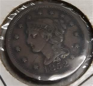 braided hair large cent 1852 error?