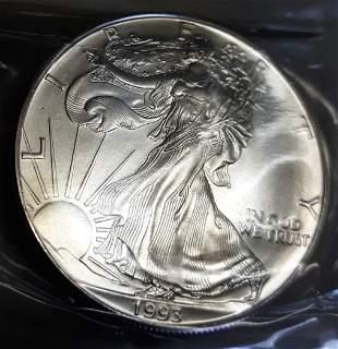 American Eagle US Silver Dollar 1993 brilliant unc.