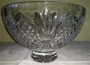 "Waterford Crystal Wedding Heirloom 8"" bowl w/hearts"