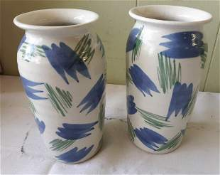 Dedza Pottery hand made pottery vases lot of 2