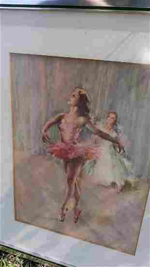 Mid Century Ballerina dancer framed Art print?