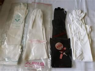vintage ladies long length gloves 4 prs van Raalte too!