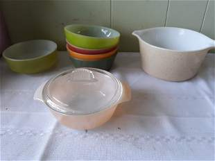 Fire king & pyrex lot of 8 all for one bid!