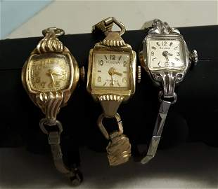 Watches Estate lot of 3 1950's bulova working!