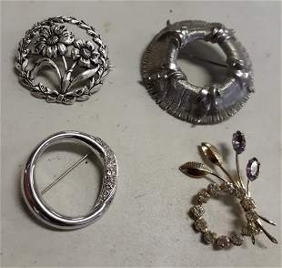 Brooch Estate collection albe, monet, sterling?