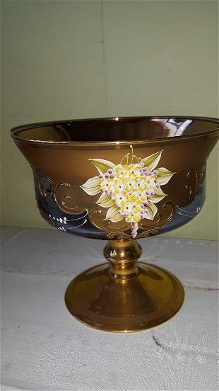 murano Bohemian amethyst center bowl sergio zane
