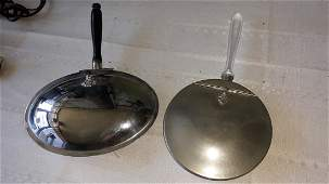 Silent Butlers pewter ATC & aluminum plate lot of 2