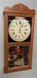 Vintage Dr Pepper Calendar Wall Clock Oak Works!