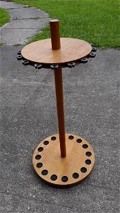fishing pole round stand holds 16 poles