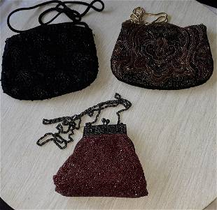 Vintage Beaded Evening Bags lot of 3