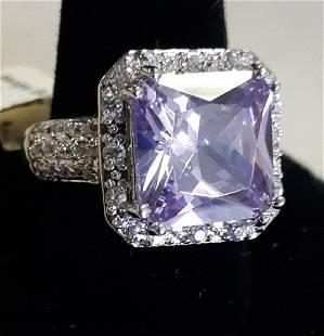 Tourmaline & White topaz Sterling Ring gorgeous!