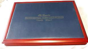 Franklin Mint Presidential Coin Collection case New!