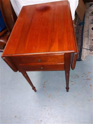 solid cherry drop side table bedroom or living room?