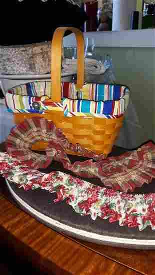 Longaberger Basket w Liner & Plastic liner & plus