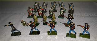 lead toy soldiers lot of 20 confederate too!