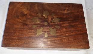 antique Celtic cigar box rosewood nice