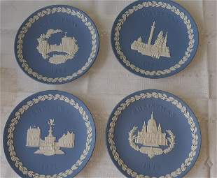 Wedgwood Blue Jasperware 1969,70,71 ,72 Christmas plate