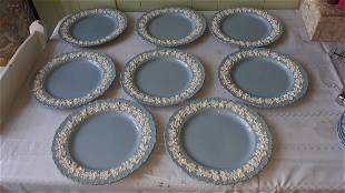 "Wedgwood Etruria/Barlaston Queensware plates 10"" 8 pcs"