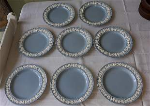 Wedgwood Etruria Barlaston Queensware lunch Plates 8pcs
