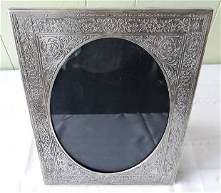 art deco silver photo picture frame epns nice!