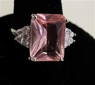 sterling & CZ's? ring sz 6 gorgeous