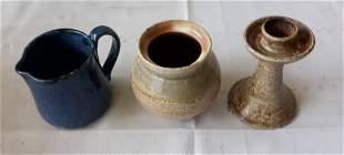 Pottery lot of 3 pcs cole, hewitt +