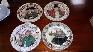 Royal Doulton lot of 4 plates estate item