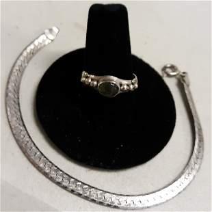 sterling ring & bracelet Nice!