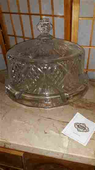 Shannon Crystal Cake Stand/Dome 4 In 1 Orig Box