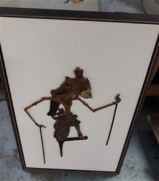 Tibetan Puppet Marionette vintage wood carved