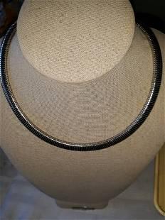"omega style choker necklace 17 1/2"" gorgeous"