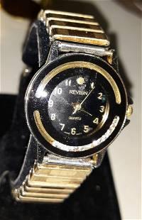 vintage revlon floating diamond dial watch