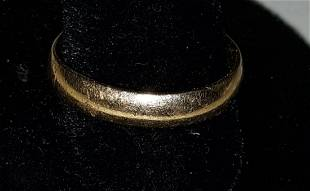 14K gold solid band ring wedding!