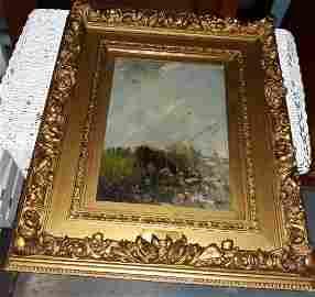 Willem Maris Rare Oil on Board original 1844-1910