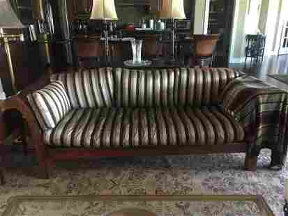 empire rolled arm sofa champagne upholstery LQQK!