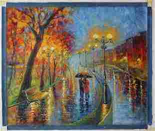 Svyatoslav Shyrochuk Original Oil on Canvas Rainy Day