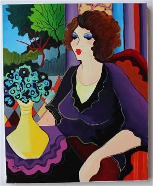 Patricia Govezensky WAITING FOR HIM Original Acrylic
