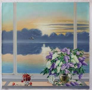 Alexander Borewko Ocean View Original Oil on Canvas